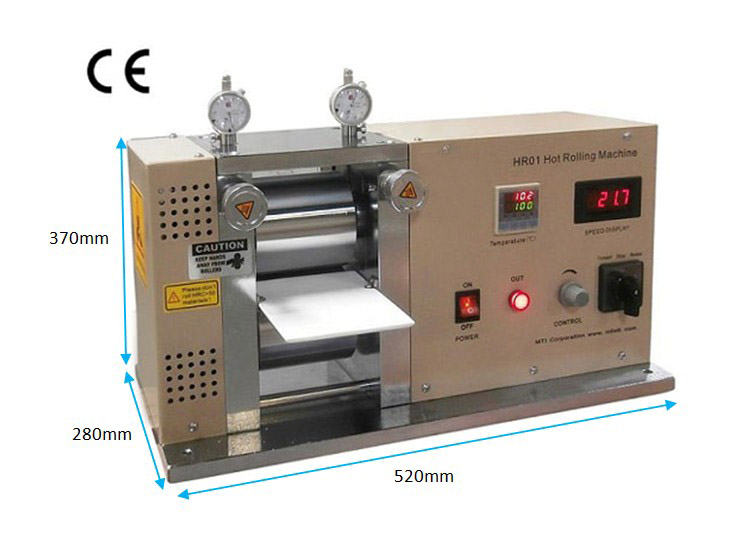 "Precision 4"" Hot Rolling Press / Calender up to 125°C -"