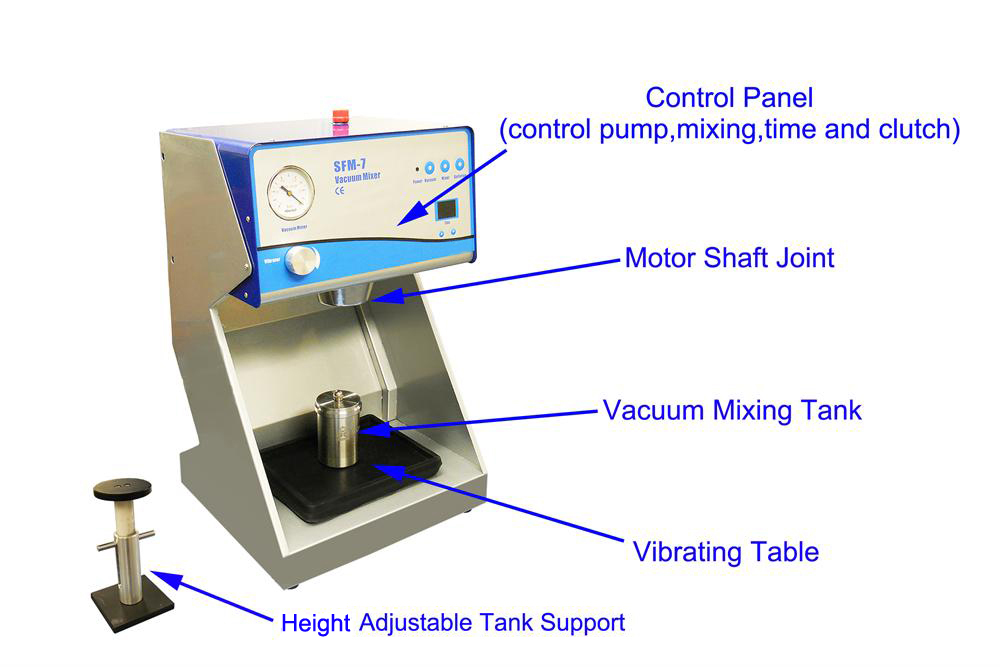 Compact Vacuum Mixer (150 / 500ml ) with Vibration Stage & T