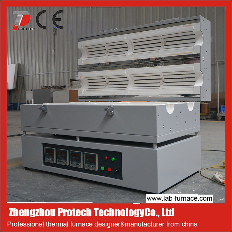 Dual Zone Quartz tubular furnace