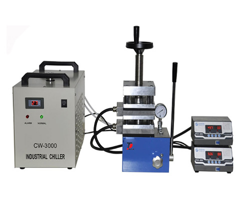 Integrative Vacuum Hot Press with Two Heating Plates